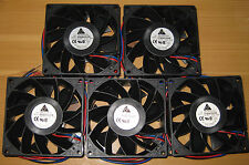 5 X Delta 92 mm High Power Cooling Fan - 6 Watt - 12 V - 85 CFM - FFB0912VHE