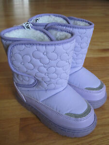 Toddler girl FLOWERS LAVENDER PURPLE WINTER SNOW BOOTS NWT 9 10