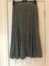 Per Una Silver Grey Maxi Skirt, Stretchy Jersey Size 12, Elasticated Waist