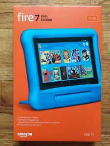 """Amazon Fire 7 Kids Edition Tablet 7"""" 16 GB - 9th Gen NEW BLUE"""