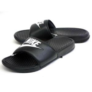 Nike Benassi JDI Men's Slides Black/White 343880-090 Size 10, 11