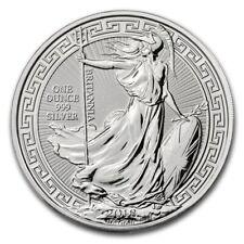 1oz Silver Britannia Oriental Border 2018 999 fine silver coin £2 bullion BU