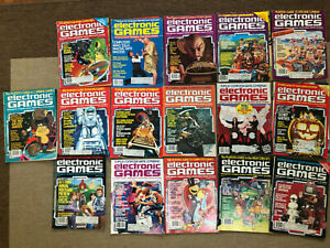 Vintage lot of 16 x  Electronic Games magazines from 1983 and 1984