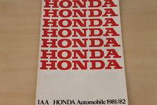 177079) Honda Civic Accord Prelude Quintet - IAA - Prospekt 1981