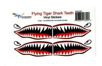 """# Flying Tigers shark teeth decal 1"""" t x 2.5"""" WWII plane canoe stickers airplane"""