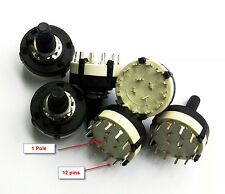 10pcs Adjustable 1 Pole 1-12 Position PANEL PCB Wiring ROTARY Band Switch(BBM)