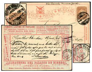 MEXICO 3¢ MULTI-AD MULITA PSC JUN 1895-FRANCE Bam PC65 T2