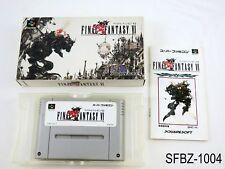 Complete Final Fantasy 6 VI Super Famicom Japanese Import JP SFC US Seller B
