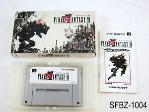Complete Final Fantasy 6 VI Super Famicom Japanese Import JP SFC Japan US Seller