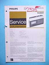 Manuel d'instructions pour Philips N SERVICE 2223, original