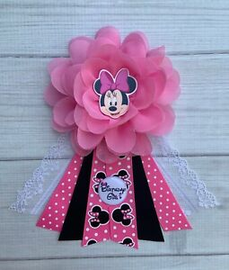 Minnie Mouse Birthday Corsage Pin ,Minnie Mouse Birthday Badge ,Birthday Pin