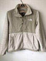 The North Face Womens Fleece Jacket Medium Tan Beige Coat Polartec Recycled