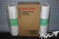 2 Genuine Ricoh HQ-40L Duplicator Masters 893196 HQ40L DX4542 DX4545 JP4500 DX
