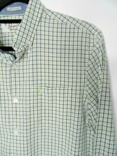 PENGUIN Mens Shirt Size M Heritage Slim Fit Checked Long Sleeved Blue Green