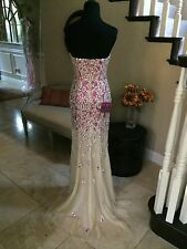 $1100 NWT FUCHSIA JOVANI PROM/PAGEANT/FORMAL DRESS/GOWN #77479 SIZE 0