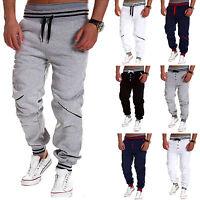 Men Jogger Sweatpants Gym Sports Harem Pants Casual Elastic Waist Long Trousers