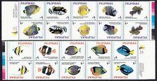 (RP96E) PHILIPPINES - 1996 FISH HORIZ STRIPS TETE-BECHE PAIR