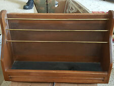 JEWELRY DISPLAY HOLDER ORGANIZER SHELF WALL MOUNT HAND CRAFTED WOOD 16""