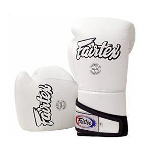Fairtex Muay Thai Boxing Gloves BGV6 Stylish Angular Sparring White 12 14 16 New