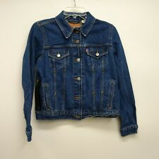 Levi's Size Medium Womens 29945 Long Sleeve Stars Blue Trucker Denim Jean Jacket