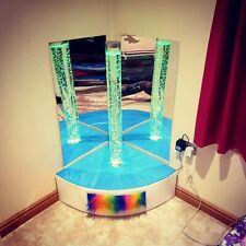 Corner bubble tube curved plinth with fibre optic mirror. Sensory room soft play