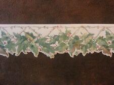 """York Wallpaper Border Scalloped 7"""" Grapes Leaves Berries Vines B08779B"""