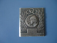 Vintage French art medal plaque 1969 silver-plated