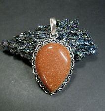Sun Sitara (Goldstone) Gemstone Pendant - 925 Silver Plated