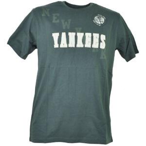 MLB New York Yankees Castle Rock Manches Courtes Hommes Gris T - Shirt Tee Coton