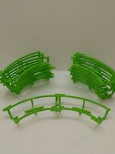 Micro Knex Motorized Madness Ball Machine Green Curved Track 10 Pieces Lot