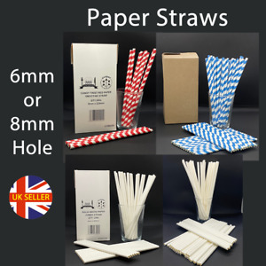 Paper Straws 6mm 8mm Jumbo Party, Event, Drinking, Drink, Bar Drinks Red White
