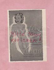 RABENSTEIN, Werbung 1940, Emil Keil Trikotagen-Fabrik Ekera Unterwäsche
