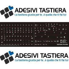 ADESIVI TASTIERA ITALIANA COMPLETA CON TUTTI I TASTI DELLA TASTIERA KEYBOARD ITA