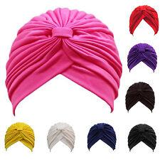 Sombrero Turbante Cabeza Envolvente Elástico Chemo Bandana Hijab Plisado indio