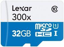 Lexar High Performance microSDHC 300 x 32GB UHS-I Card with SD Adapter - LSDMI32