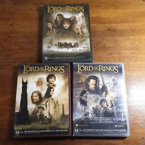 The Lord of the Rings Trilogy 3 Movie DVD Bundle R4 Like New! FREE POST