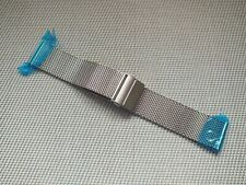 Brushed Stainless Steel Shark Mesh Quick Release Watch Strap 22mm