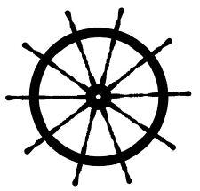 SHIP WHEEL Vinyl Decal Sticker Car Window Boat Sailboat Nautical Sailing Anchor