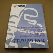 MANUEL REVUE TECHNIQUE D ATELIER YAMAHA TT-R 125 LW 2000 M TTR ENTRETIEN