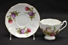 Queen Anne Dundee Thistle Purple Pink Flower Cup & Saucer