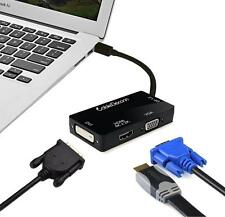 Mini DP Thunderbolt to HDMI (4K*2K resulotion)/VGA/DVI Cable Converter Adapter