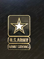 Vintage Collectible U S Army Strong Colorful Metal Pin Back Lapel Pin Hat Pin