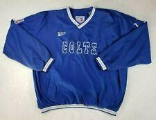 NFL Indianapolis Colts Vintage Blue Pullover Jacket Reebok Pro Line Size XXL