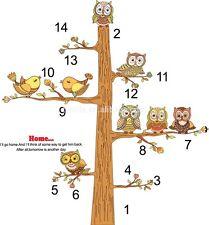 owls tree animals zoo giant wall sticker decal children/kids bedroom mural