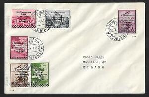 SLOVENIA ITALIAN YUGOSLAVIA  AIR MAIL COVER 1941 SIGNED- SCARCE