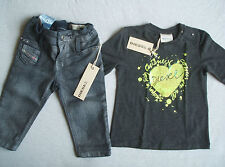BNWT Diesel Baby Girls Slim Jeans & L/S T Shirt Top Size 6 months PIR eur139