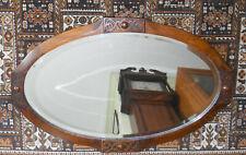 Wooden Framed Victorian Oval Mirror