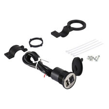 Motorbike Motorcycle Waterproof 12V USB Charger Mobile Power Socket Adapter Kit