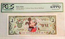 2000D $1 Mickey Disney Dollar, Graded By PCGS Choice New 63PPQ, D00338348A