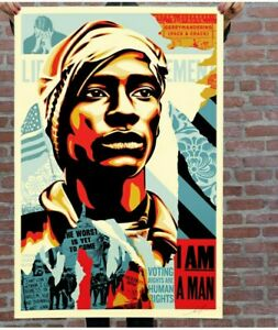 Voting Rghts Are Human Rights - Obey, Signed Offset Lithograph By Shepard Fairey